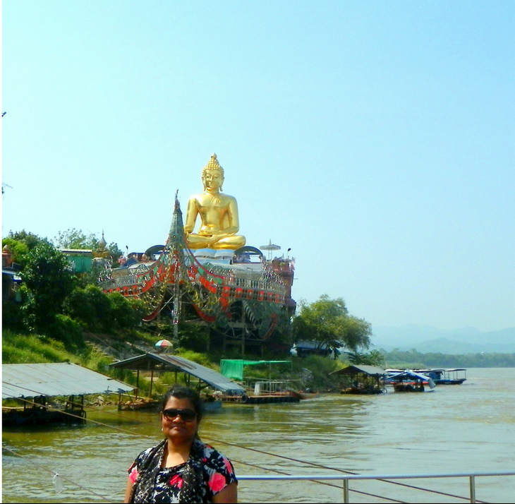 At the Golden Triangle in Chiang Rai