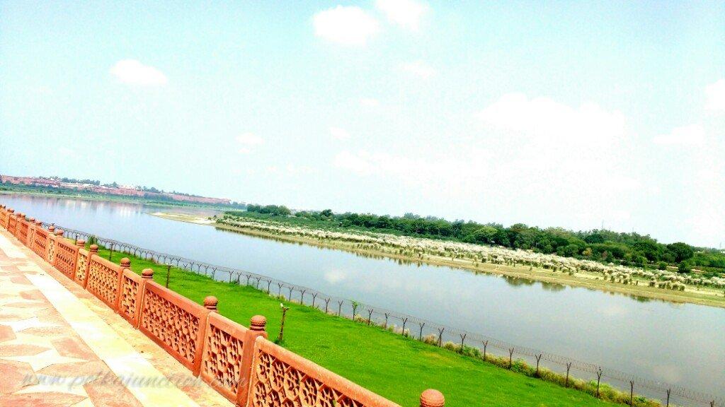River Yamuna behind TajMahal at Agra