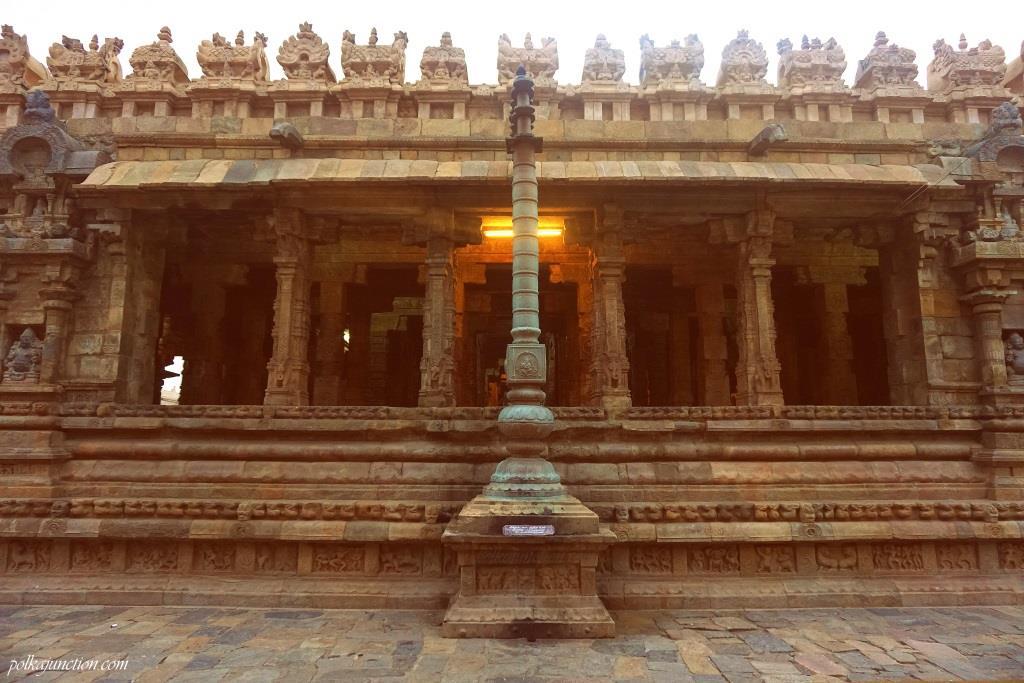 DwajaSthamba -Airavateswarar-temple-at-Darasuram