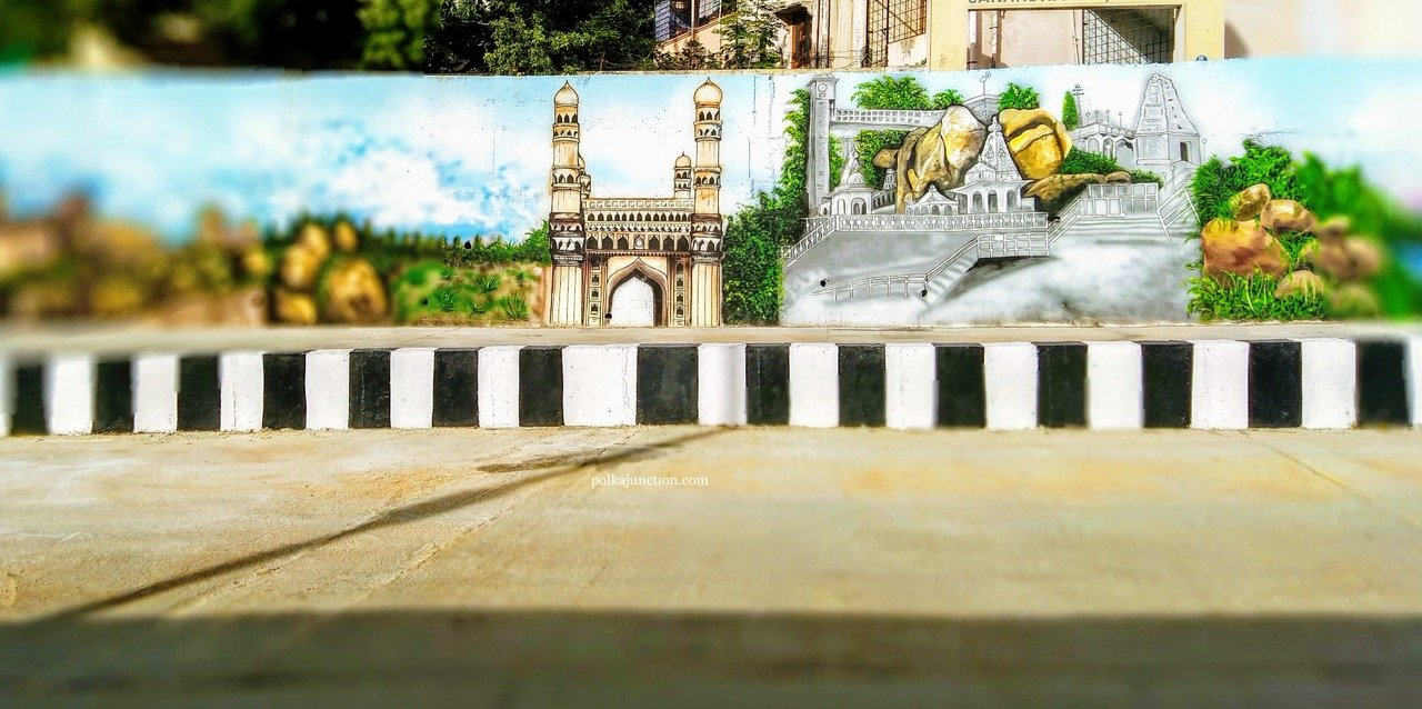 FInding Street Art in the twin cities of Secunderabad and Hyderabad