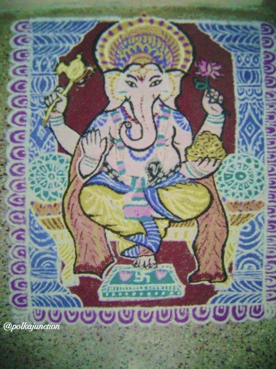 Rangoli Navrathri golu designs