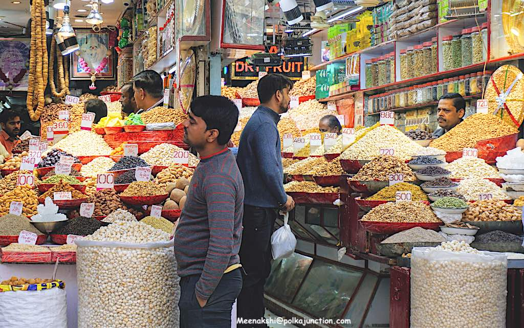 self guided vegetarian tour of Chandni Chowk