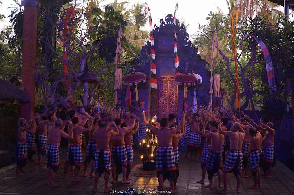 The start of Kecak dance